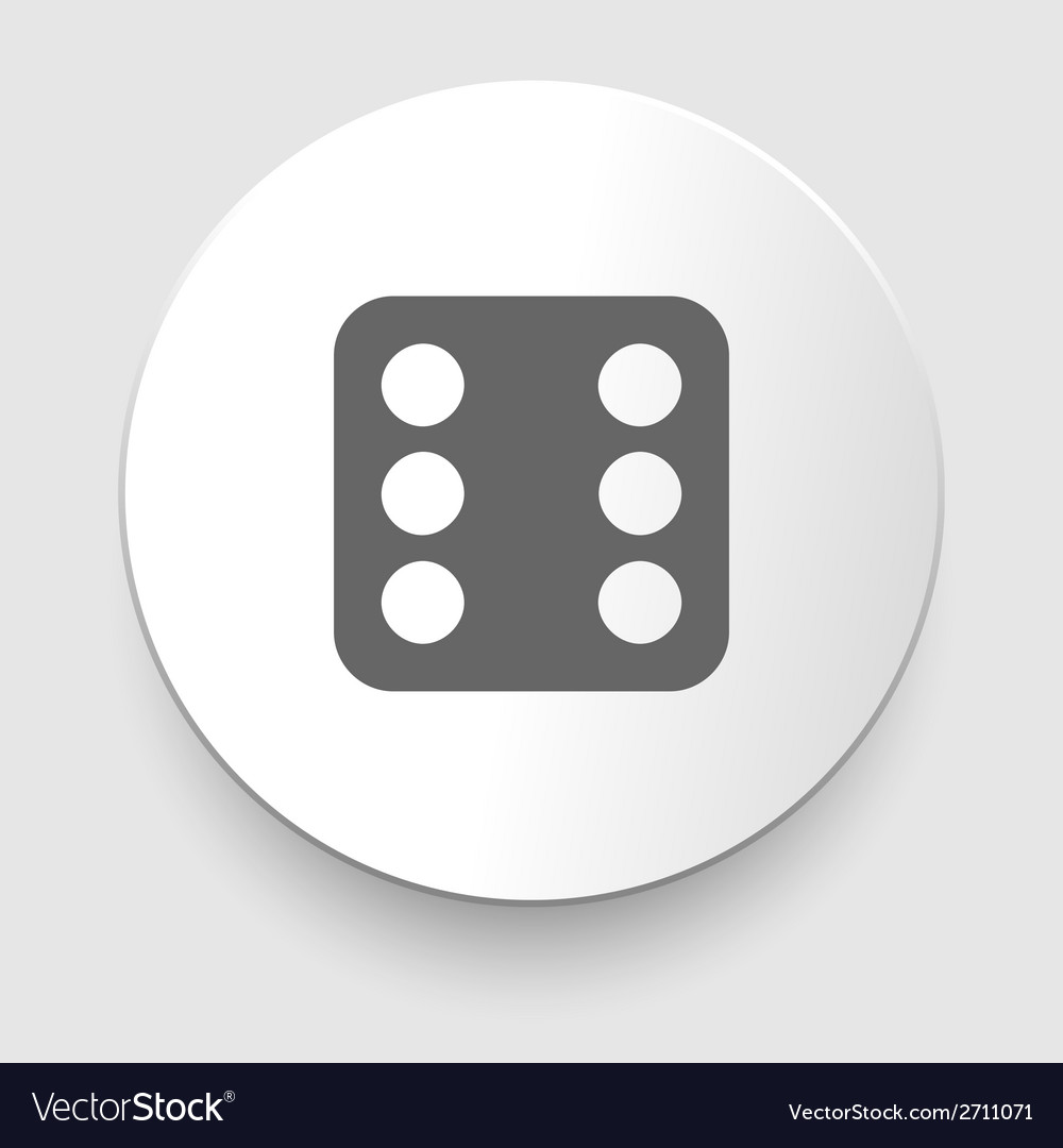 One dices - side with 6 vector | Price: 1 Credit (USD $1)