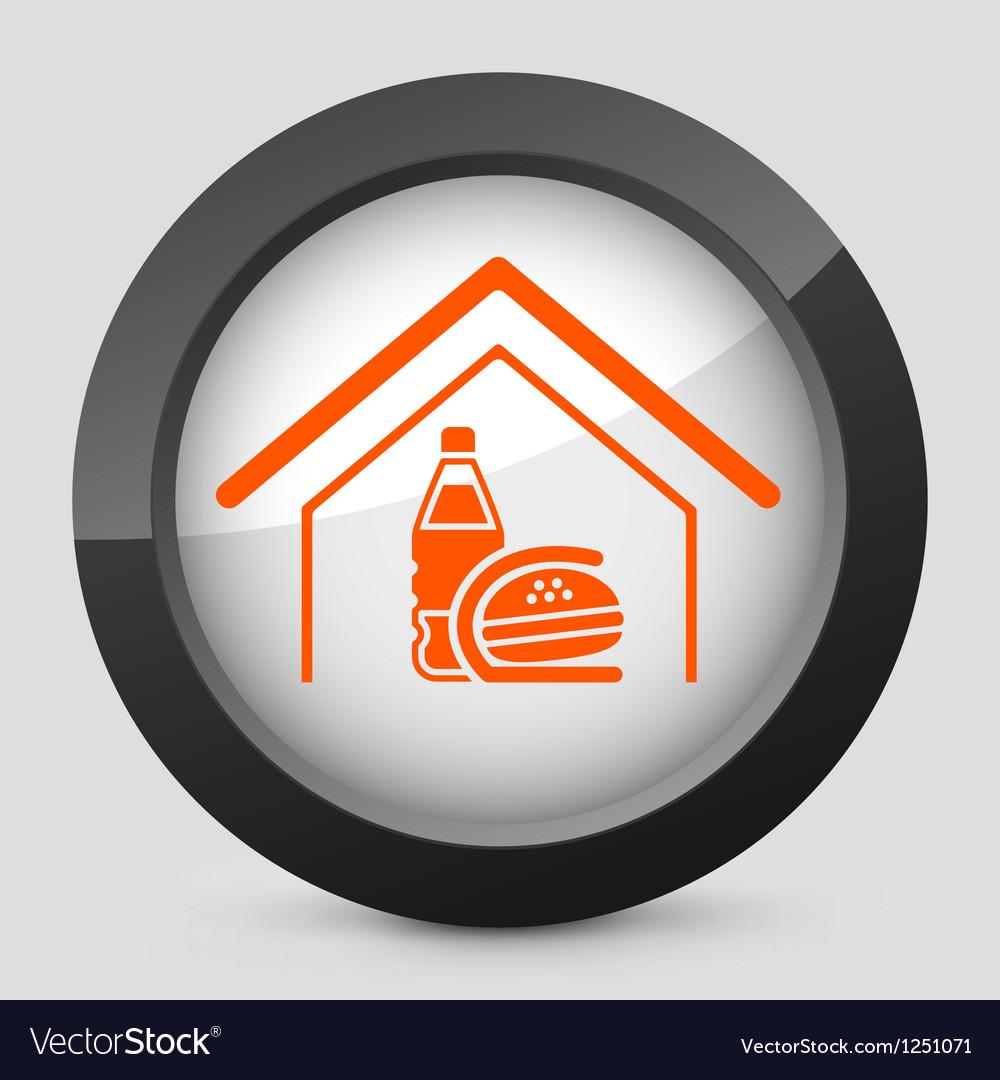Orange and gray elegant glossy icon vector   Price: 1 Credit (USD $1)