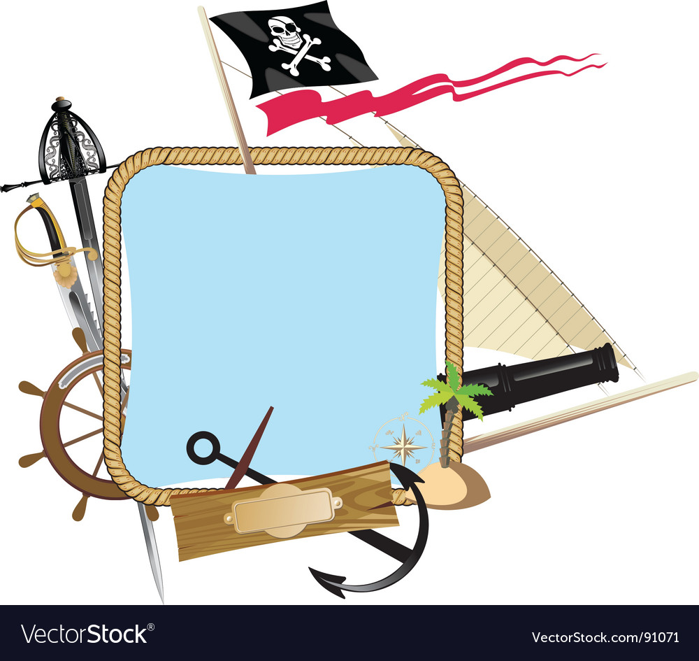 Pirate frame vector | Price: 1 Credit (USD $1)