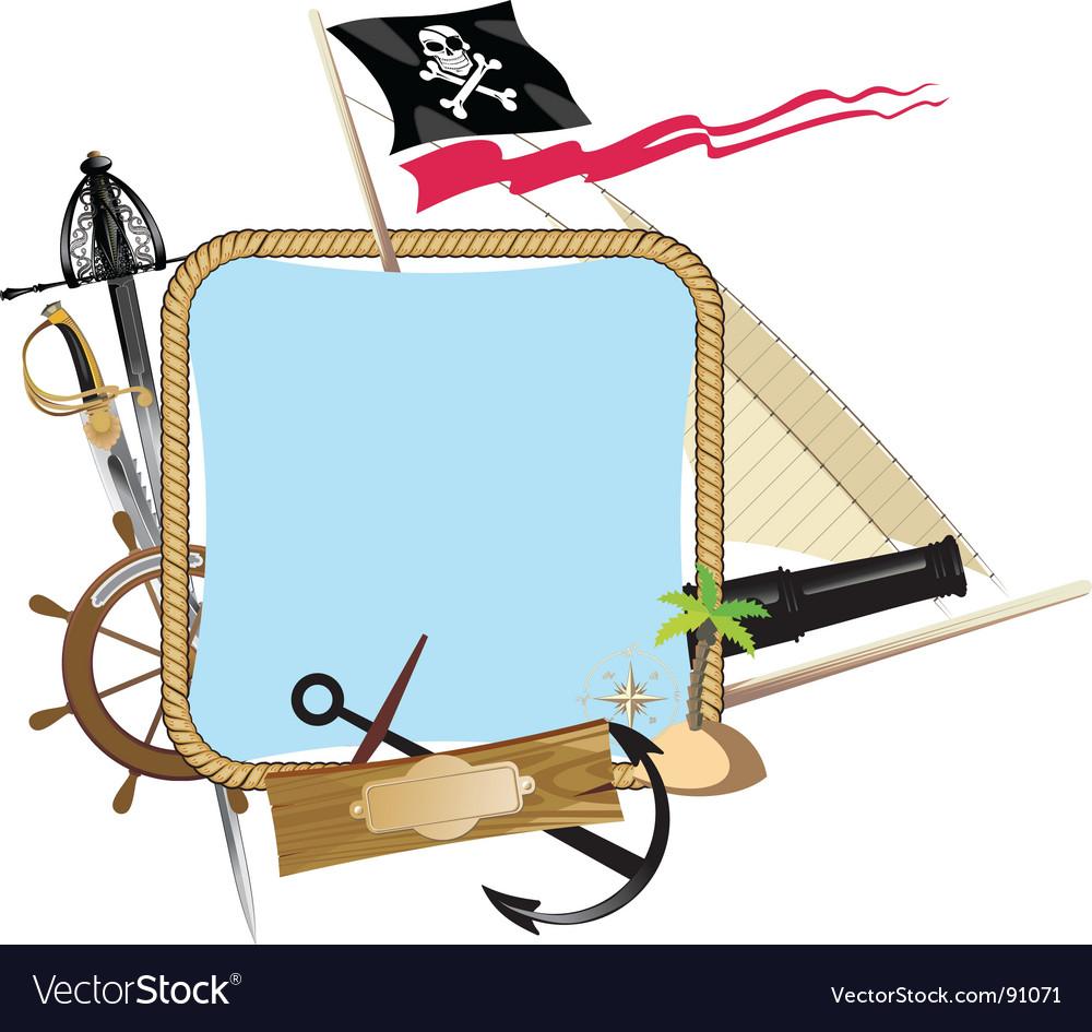 Pirate frame vector | Price: 1 Credit (USD $1)