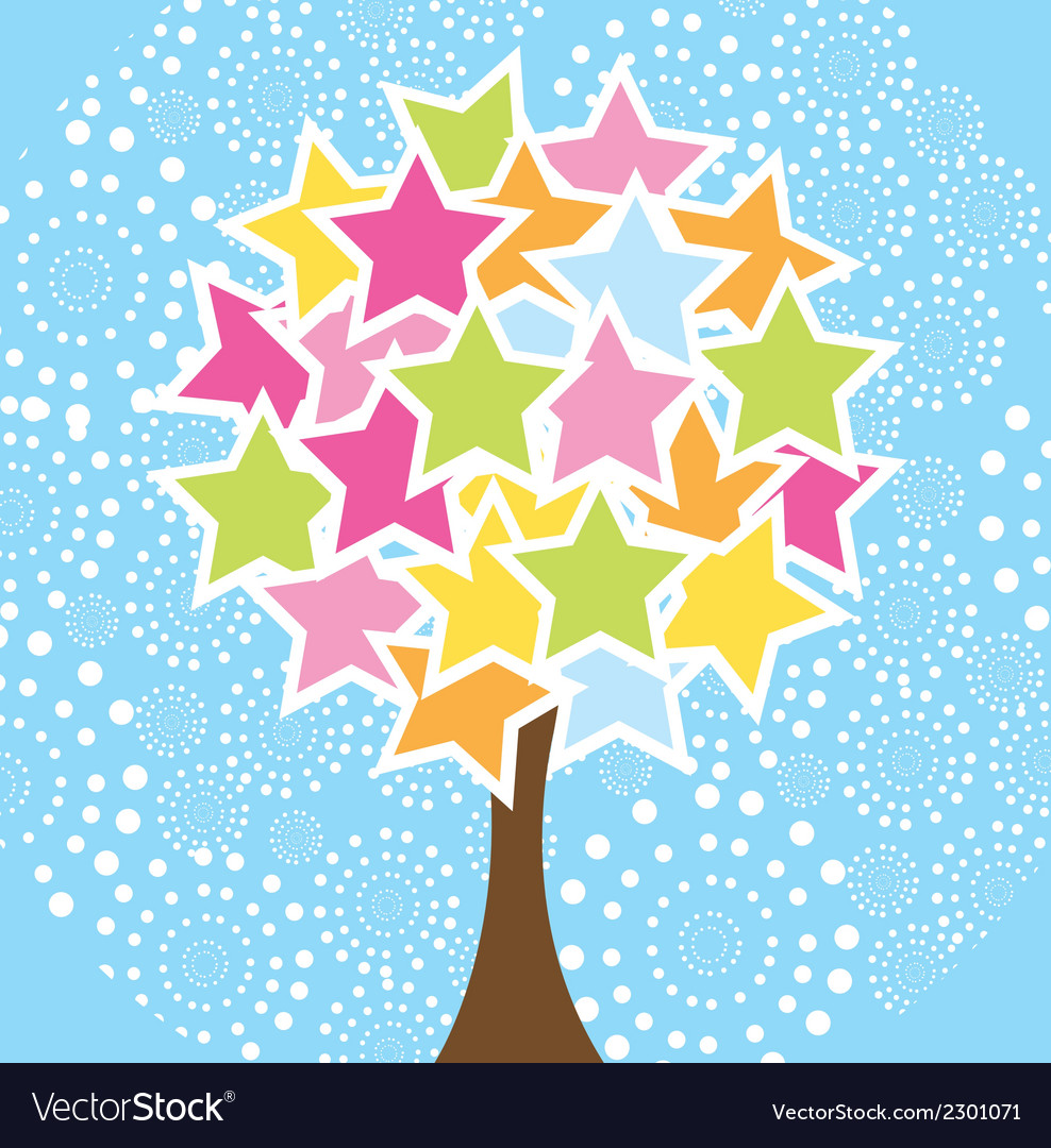 Star tree vector | Price: 1 Credit (USD $1)
