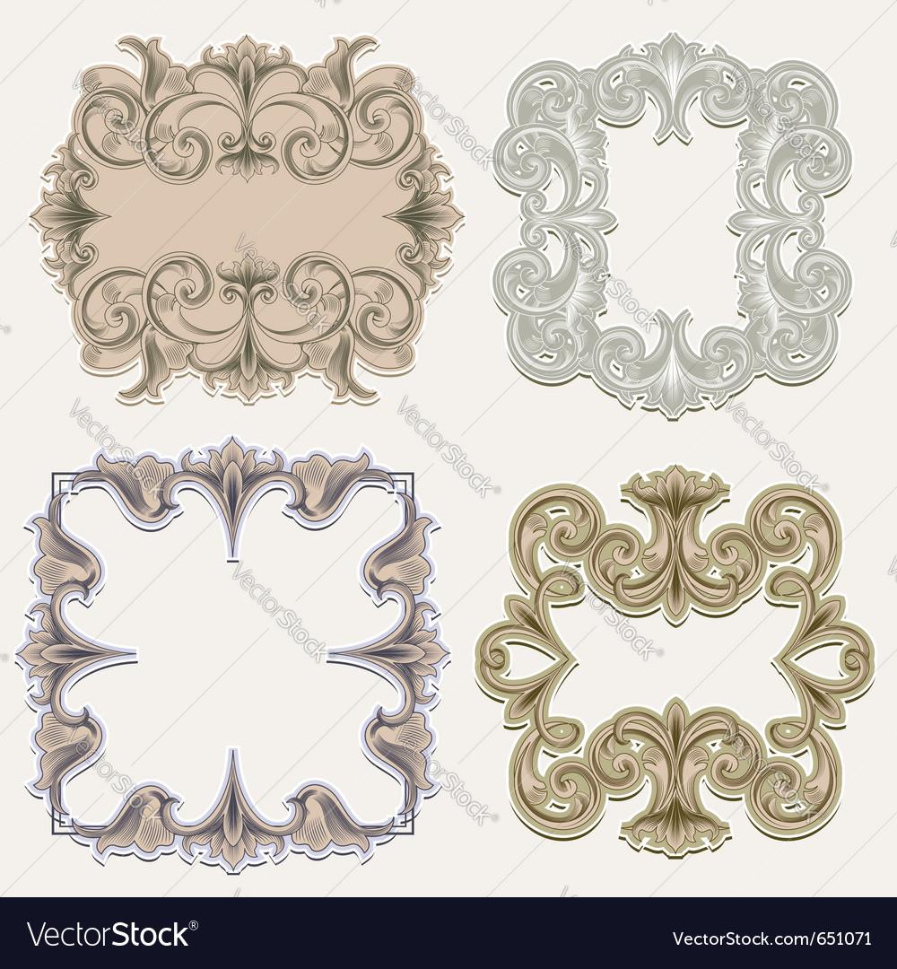 Victorian frames vector | Price: 1 Credit (USD $1)