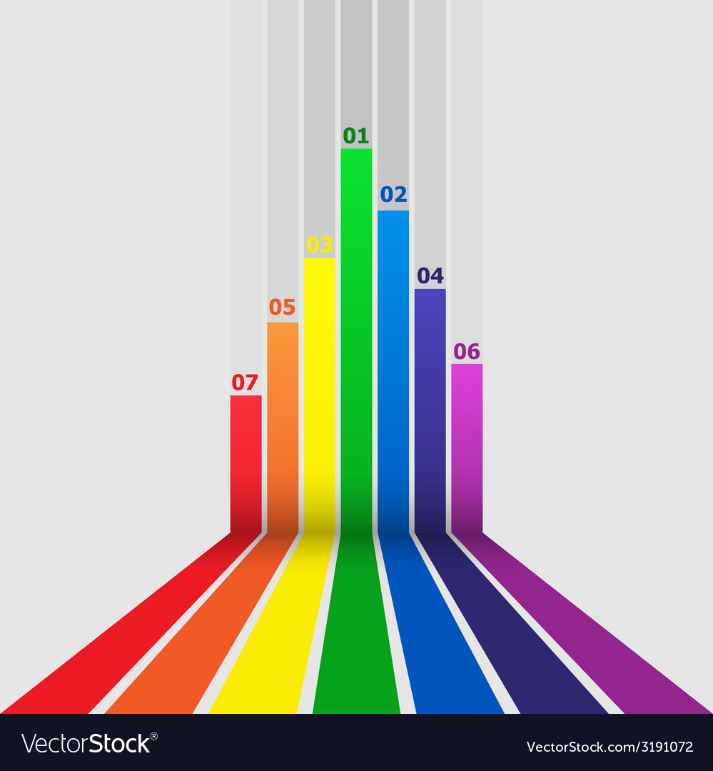 Abstract design element with colorful lines vector | Price: 1 Credit (USD $1)