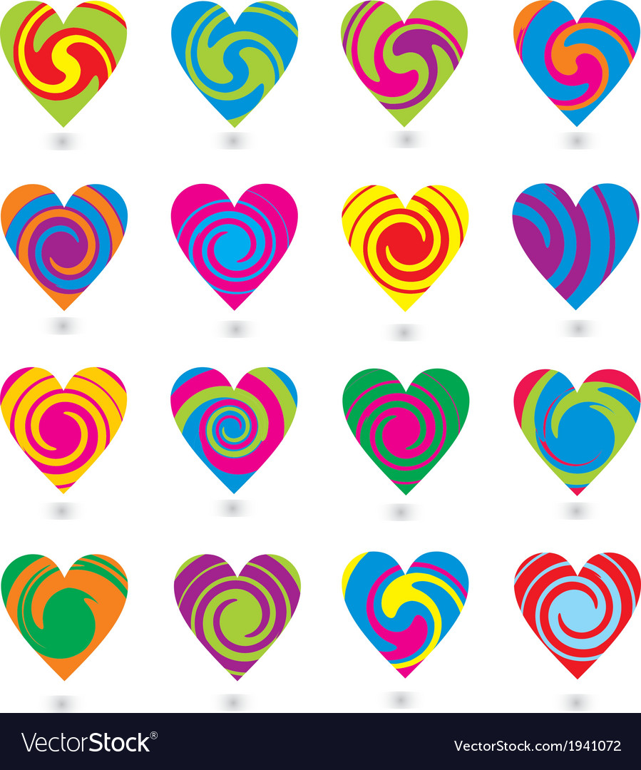 Colorfull heart element vector | Price: 1 Credit (USD $1)