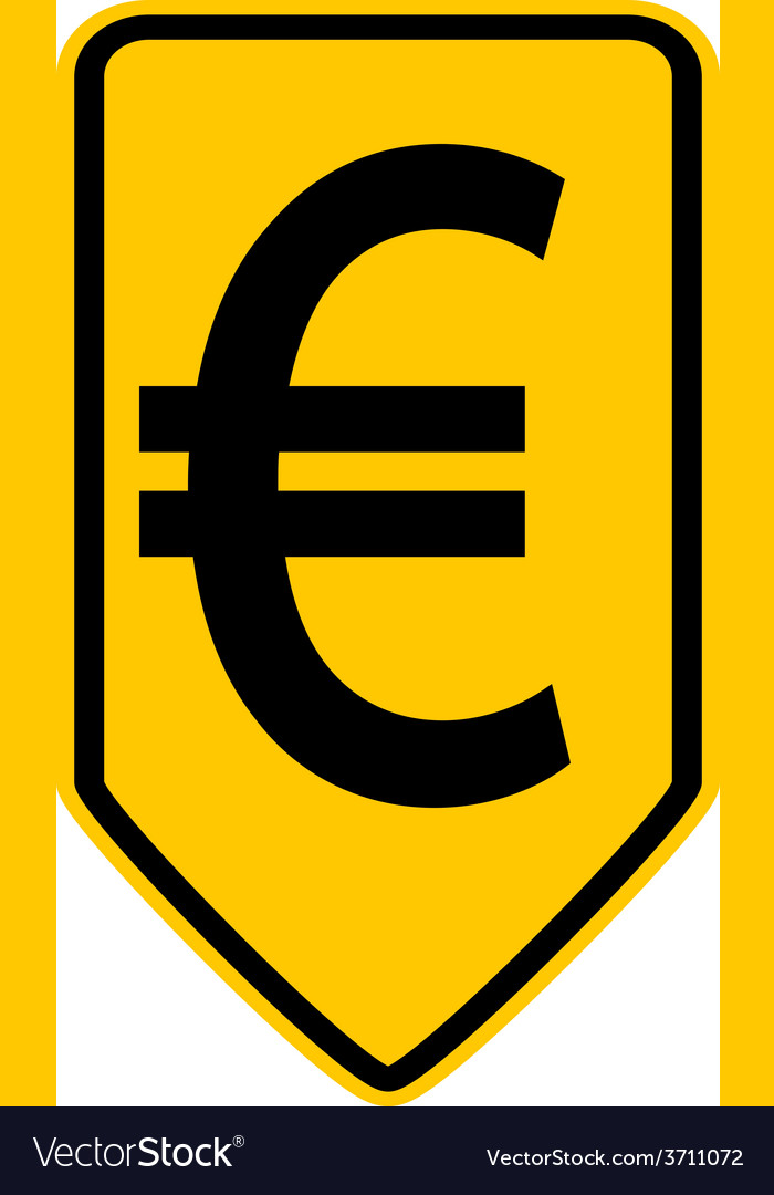 Euro button vector | Price: 1 Credit (USD $1)