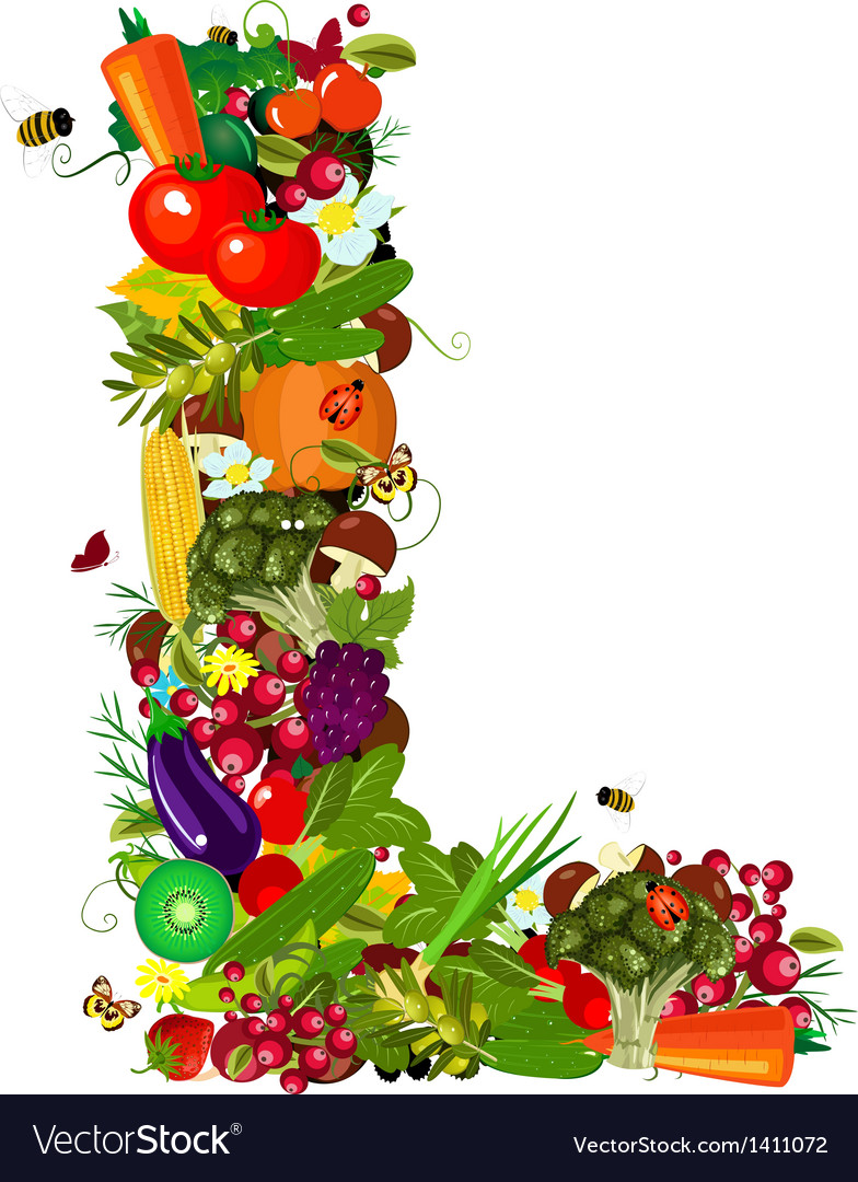 Letter vegetabless l vector | Price: 1 Credit (USD $1)