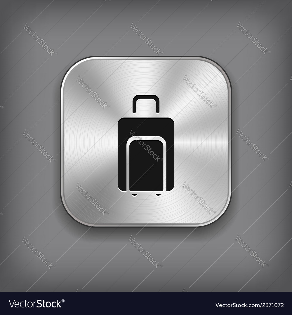 Luggage icon - metal app button vector | Price: 1 Credit (USD $1)