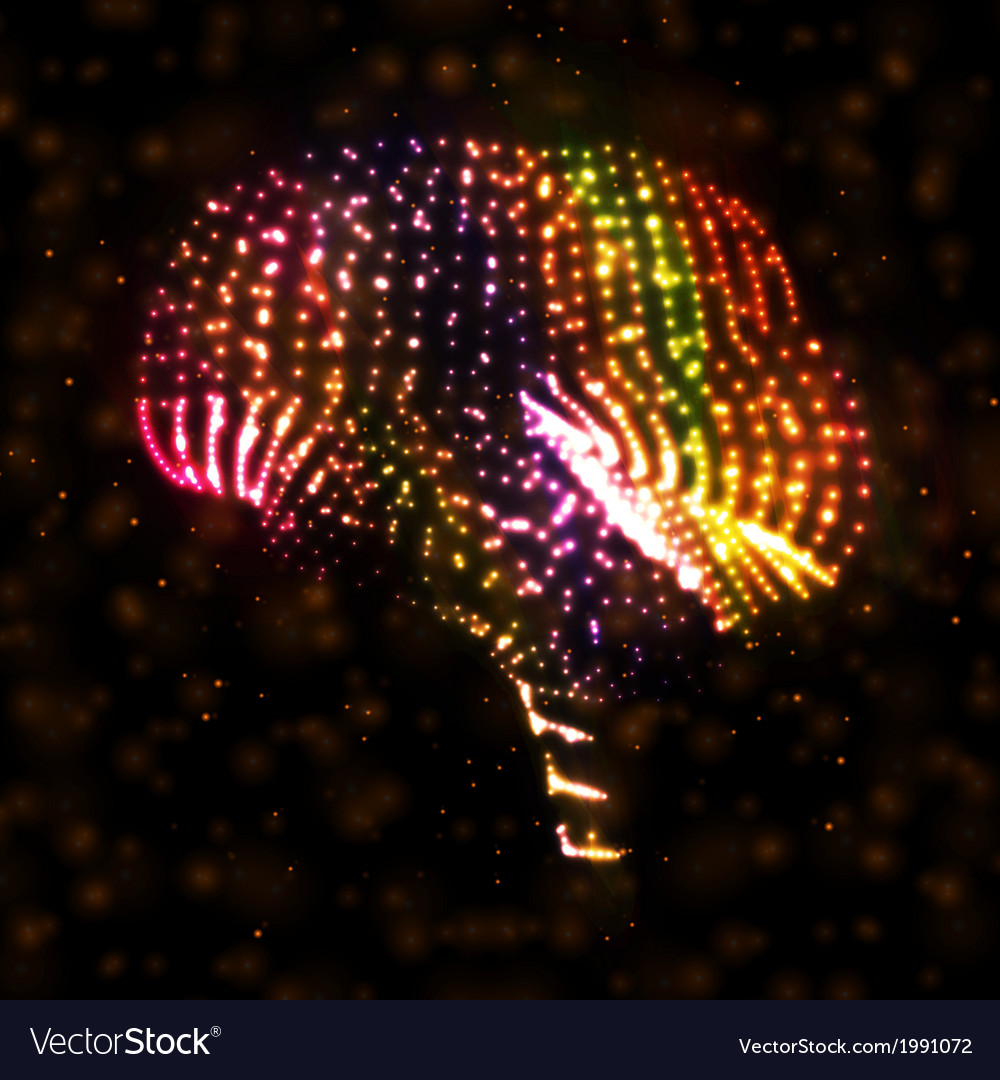 Neon brain vector | Price: 1 Credit (USD $1)