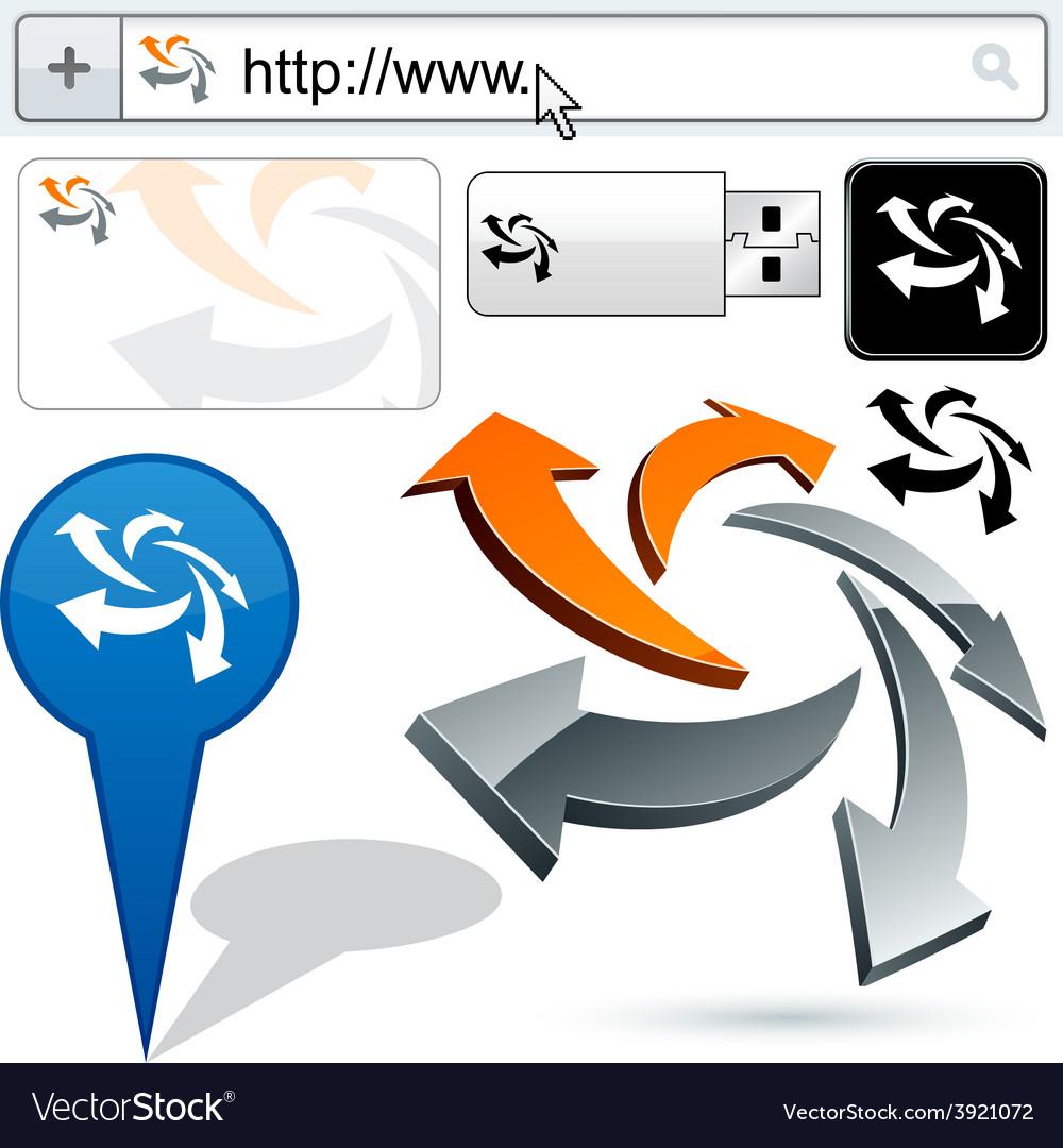 Original arrows design element vector