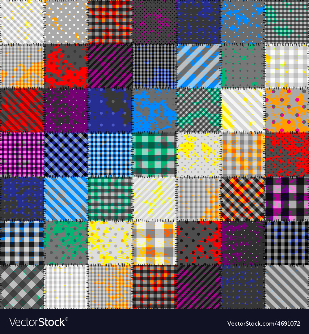 Patchwork of fabric in rainbow colors vector | Price: 1 Credit (USD $1)