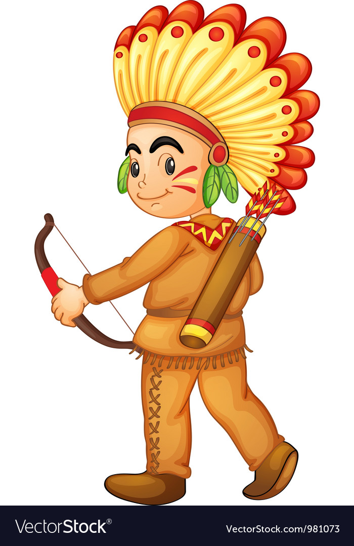 American indian boy vector | Price: 3 Credit (USD $3)