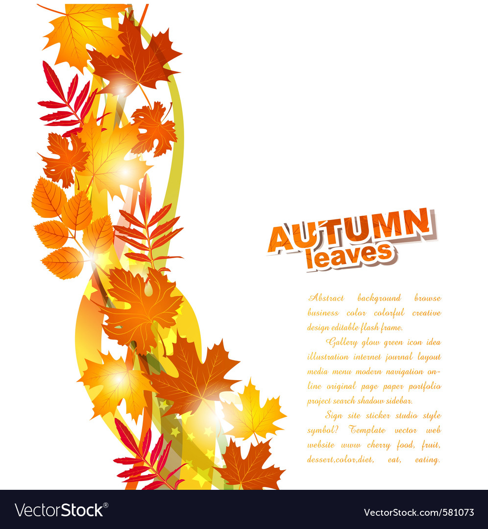 Background with autumn leaves vector | Price: 1 Credit (USD $1)