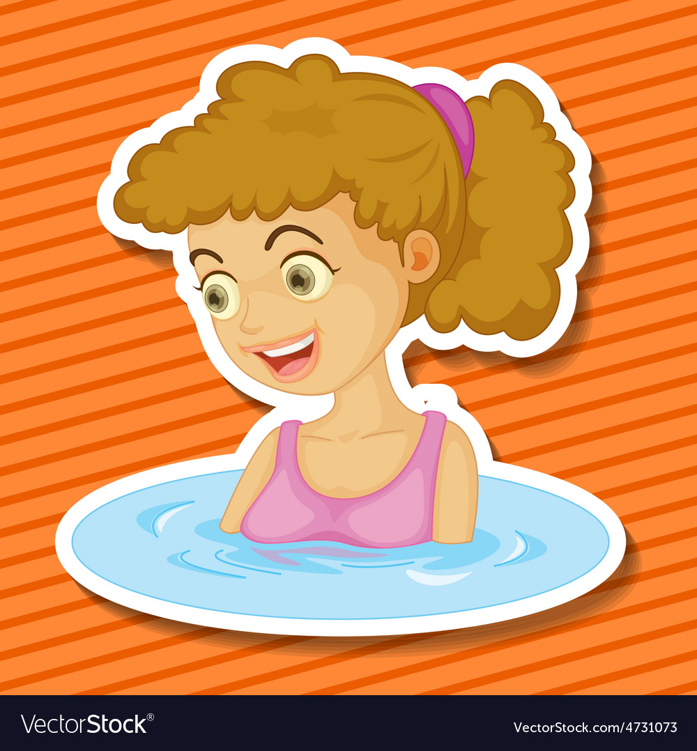 Bathing vector | Price: 1 Credit (USD $1)