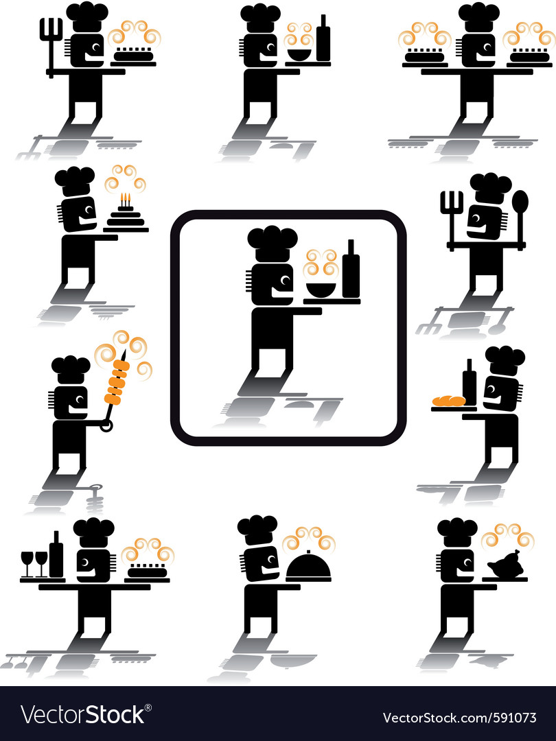 Chef icons vector | Price: 1 Credit (USD $1)