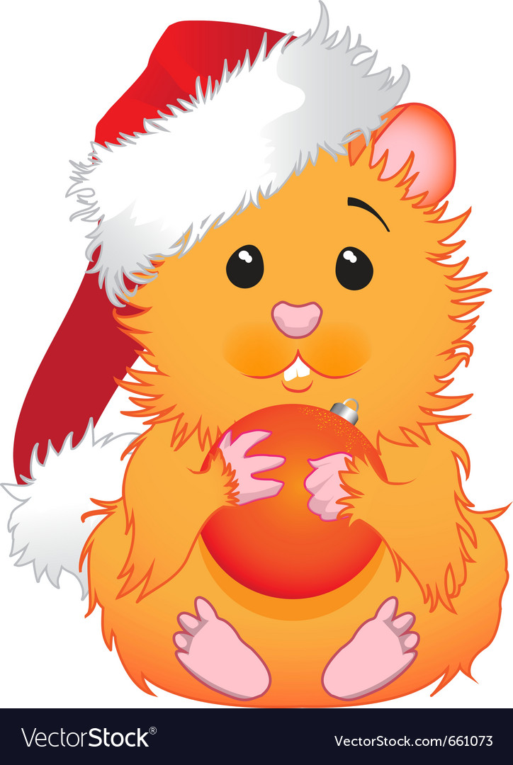 Christmas hamster vector | Price: 1 Credit (USD $1)