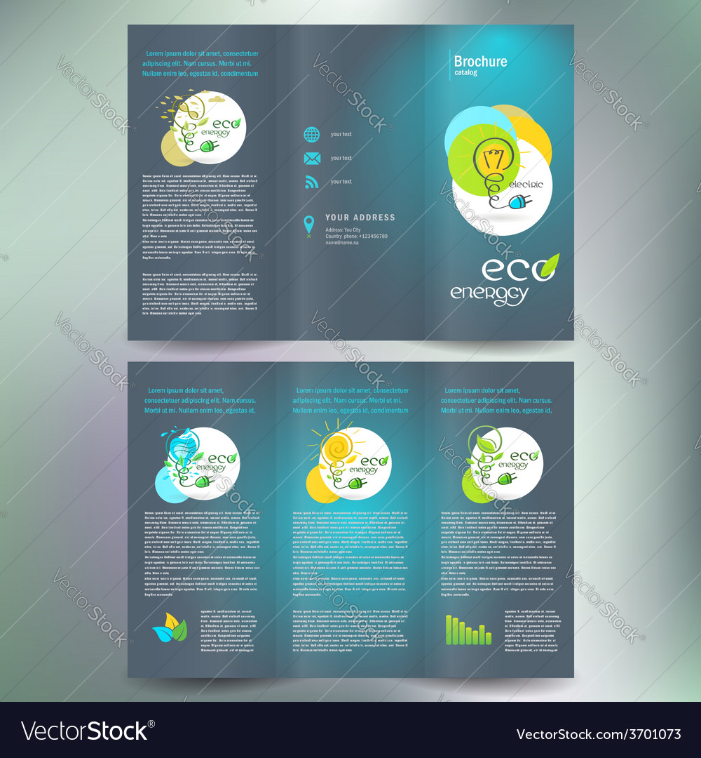 Eco energy alternative brochure folder leaflet vector | Price: 1 Credit (USD $1)