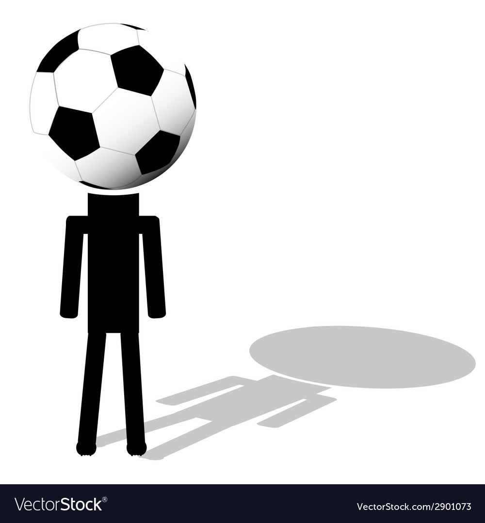 Football ball like had of player vector | Price: 1 Credit (USD $1)