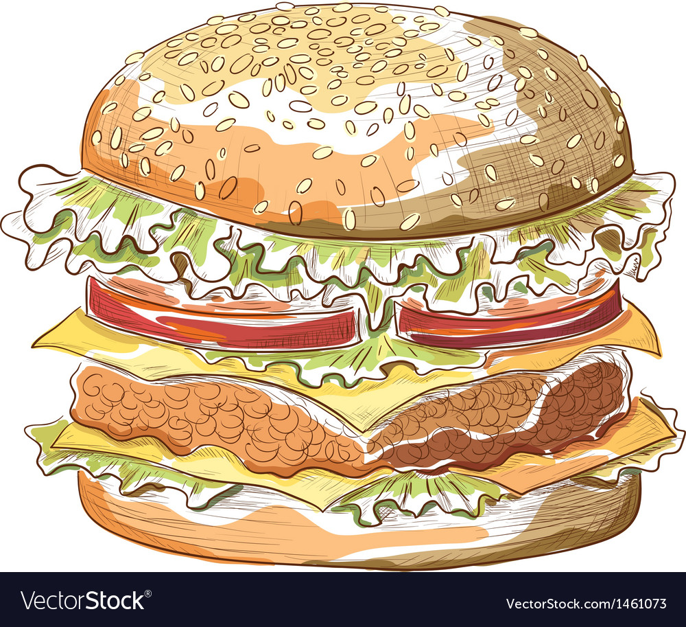 Hamburger vector | Price: 1 Credit (USD $1)