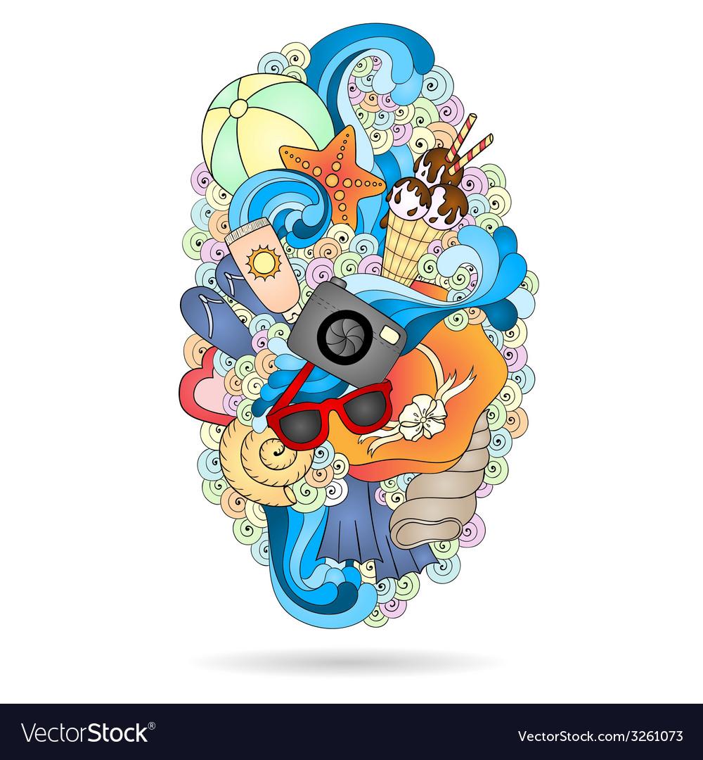 Summer background design element vector   Price: 1 Credit (USD $1)