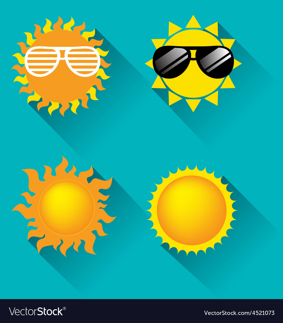 Sun icon for summer concept vector | Price: 1 Credit (USD $1)