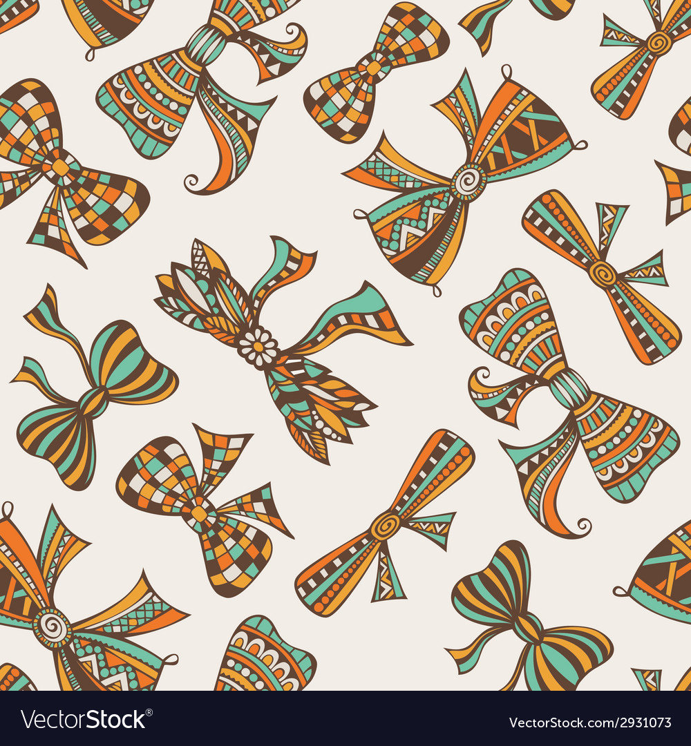 Vintage holidays seamless pattern vector | Price: 1 Credit (USD $1)