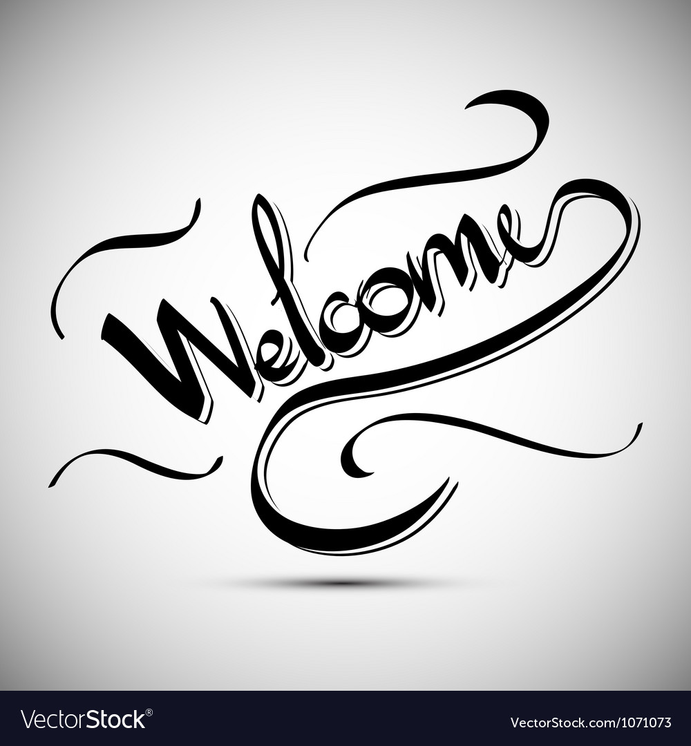 Welcome greetings hand lettering set vector | Price: 1 Credit (USD $1)