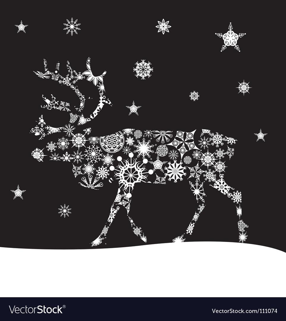 Christmas deer vector | Price: 1 Credit (USD $1)