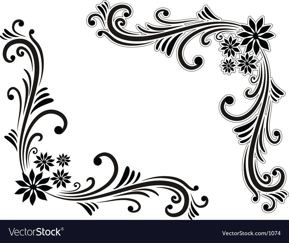 Corner decorations vector | Price: 1 Credit (USD $1)
