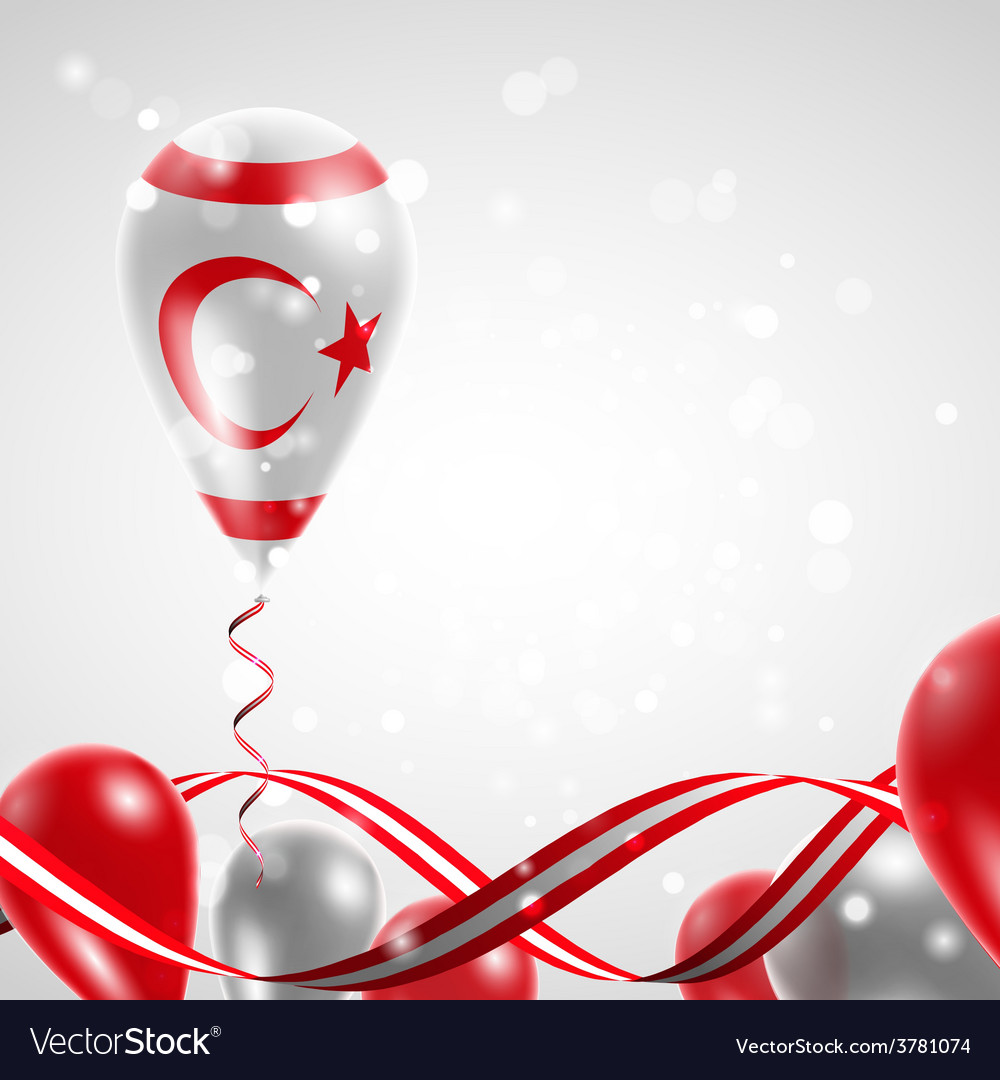 Flag of northern cyprus on balloon vector | Price: 3 Credit (USD $3)