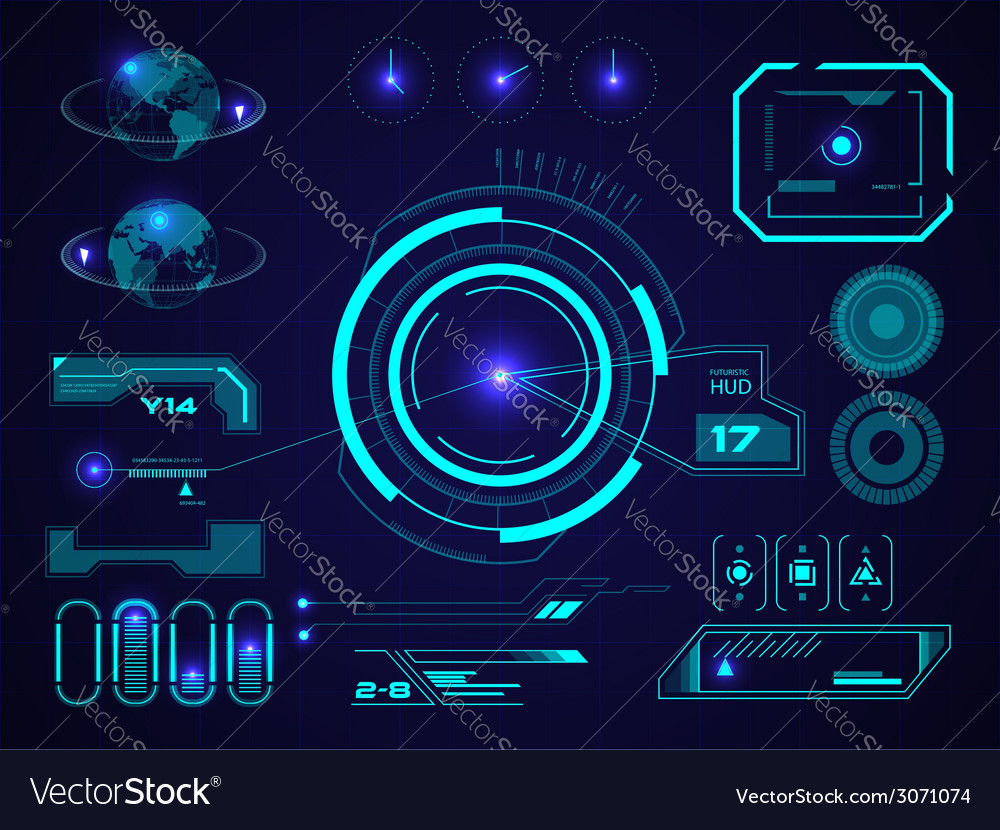 Futuristic user interface hud vector | Price: 1 Credit (USD $1)
