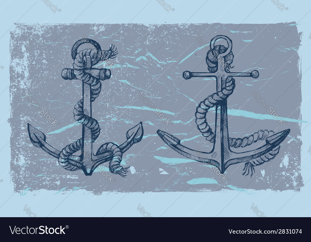 Hand drawn anchor vector | Price: 1 Credit (USD $1)