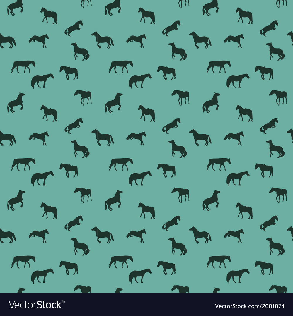 Horse runs hops gallops isolated seamless pattern vector | Price: 1 Credit (USD $1)