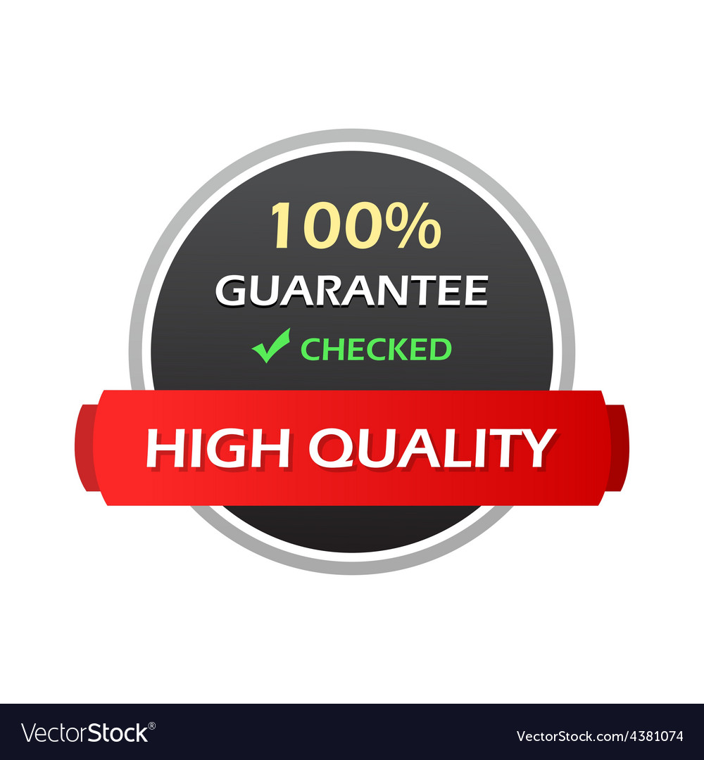 Hundred percent guarantee colorful labels vector | Price: 1 Credit (USD $1)