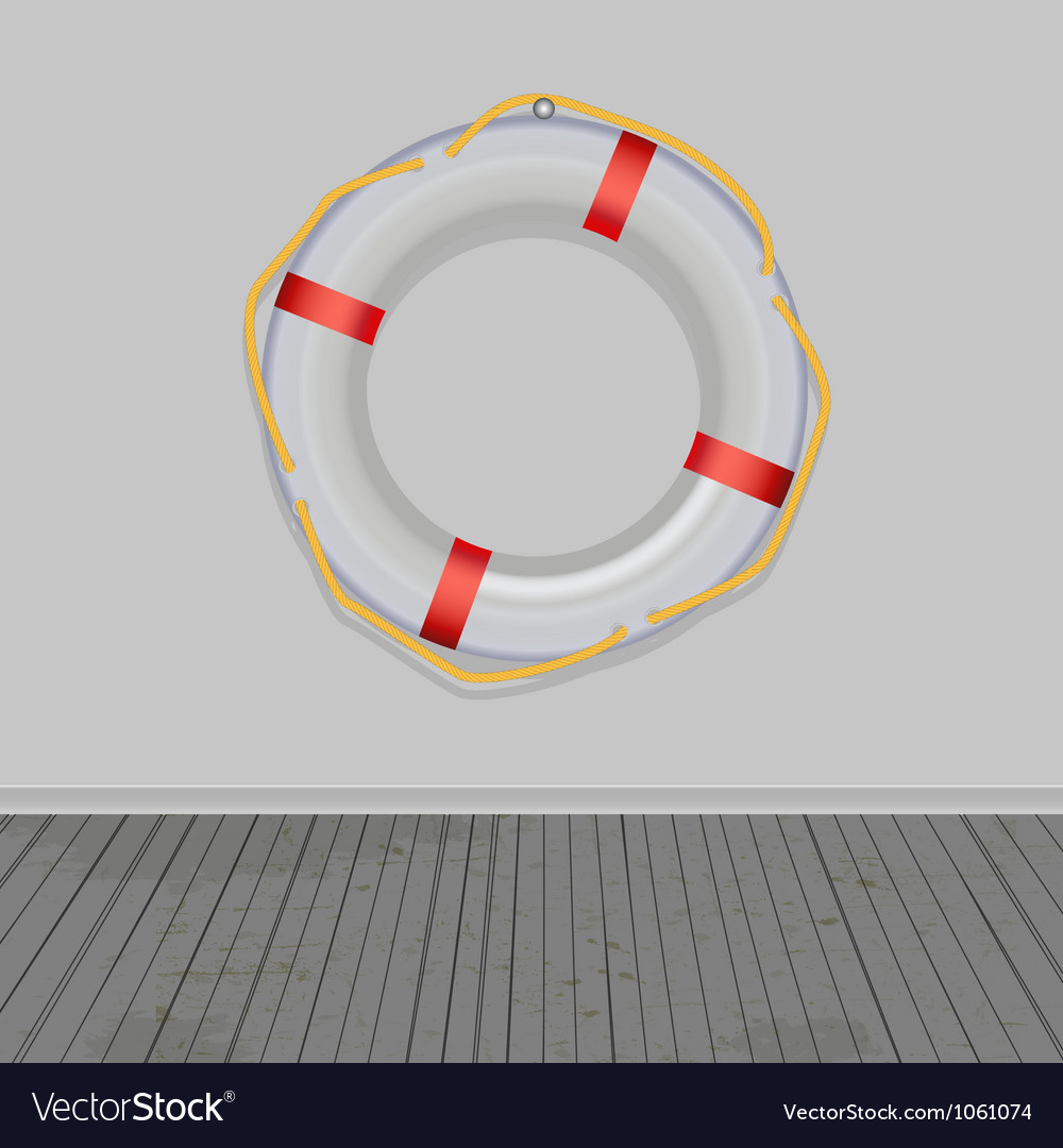 Life buoy boards background ropes vector | Price: 1 Credit (USD $1)