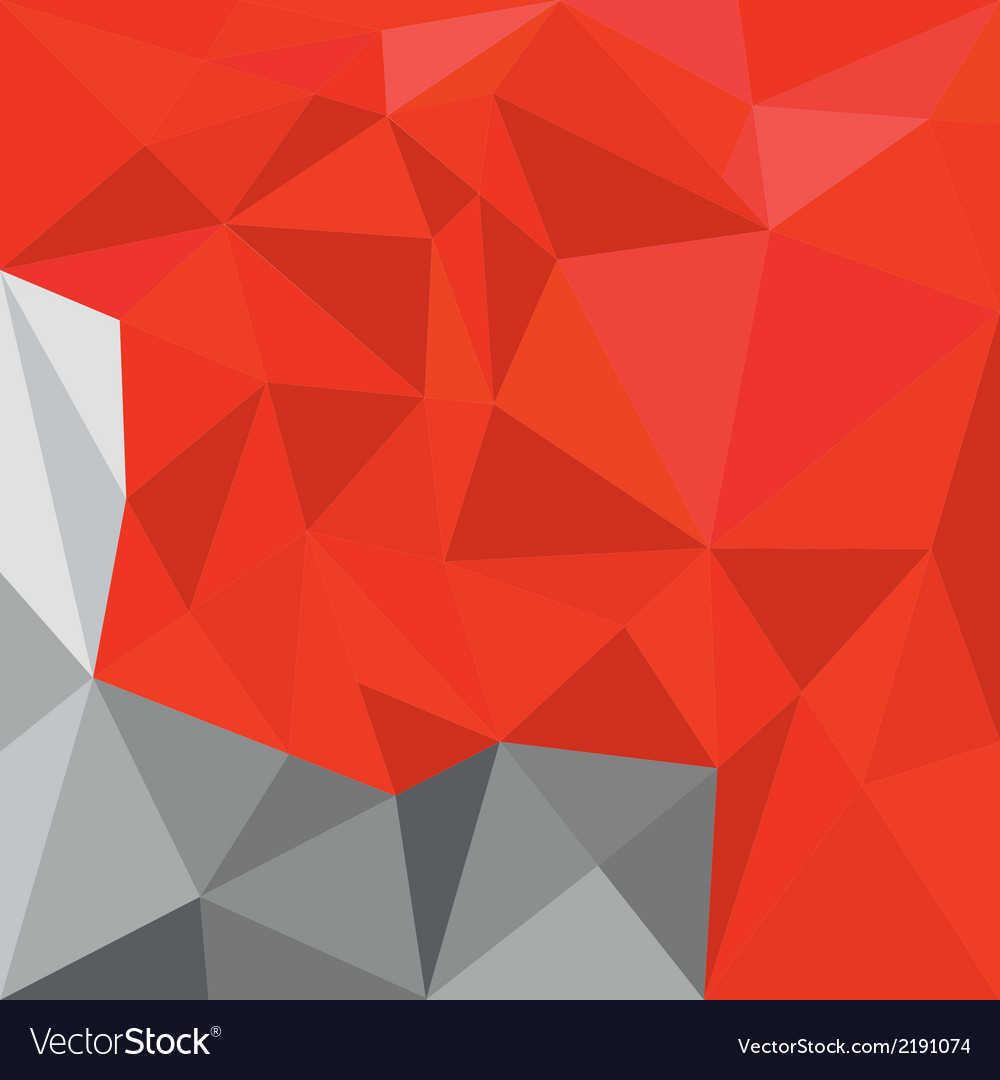 Red and grey triangle flat mosaic background vector | Price: 1 Credit (USD $1)