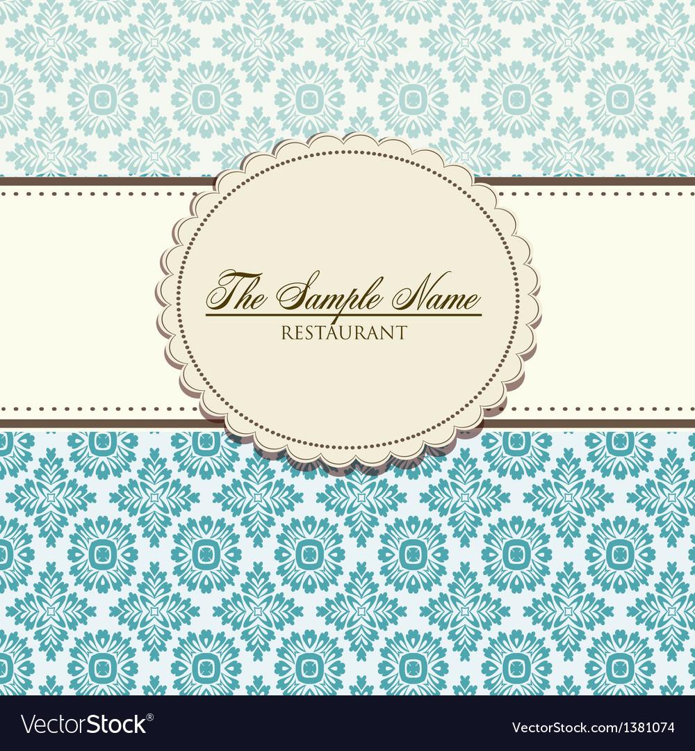 Restaurant floral menu design vector   Price: 1 Credit (USD $1)