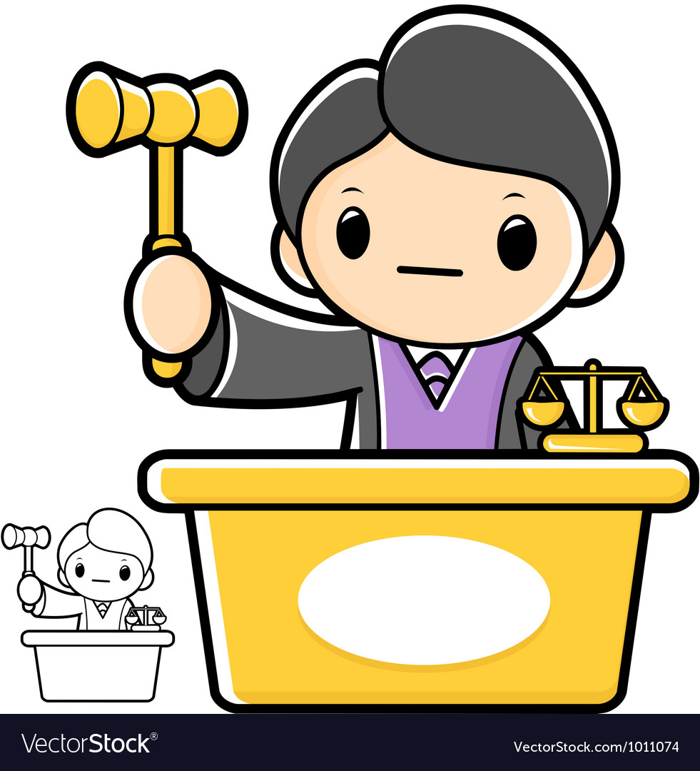 The trial judge that the character a law school vector   Price: 3 Credit (USD $3)