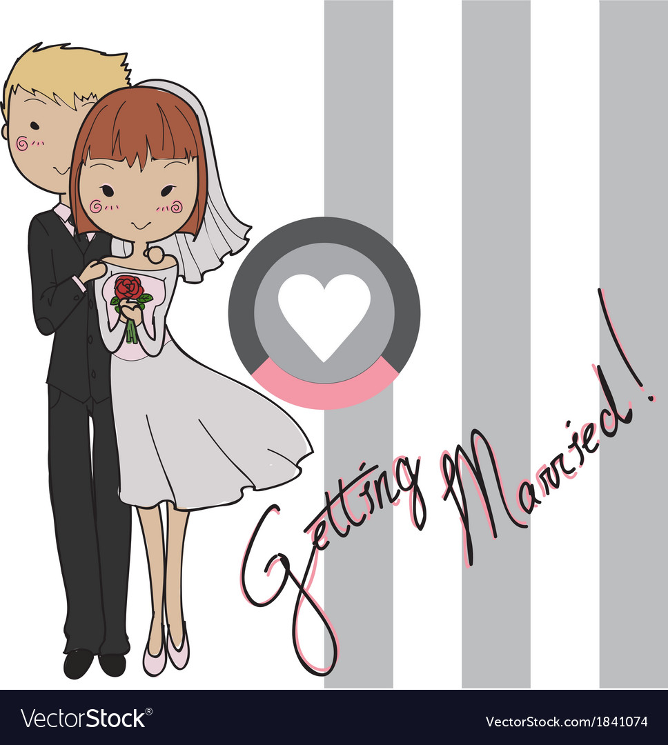 Wedding card bride and groom vector | Price: 1 Credit (USD $1)