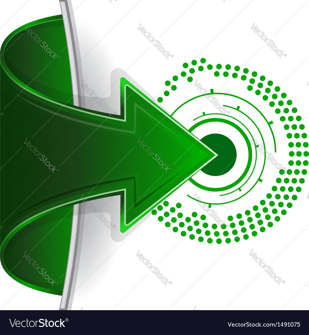 Abstract web arrow in green color vector | Price: 1 Credit (USD $1)