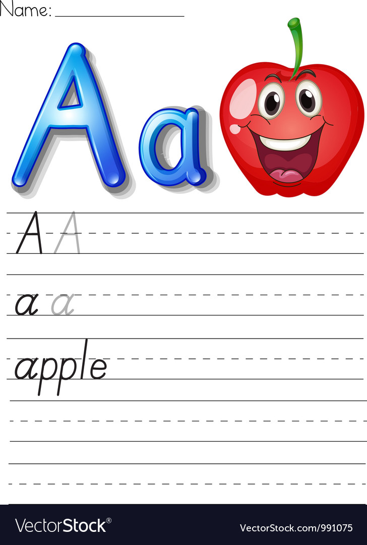Alphabet worksheet vector | Price: 1 Credit (USD $1)