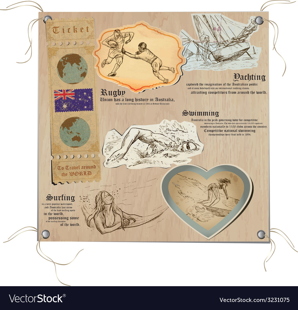 Australia - pictures of life sport vector | Price: 1 Credit (USD $1)