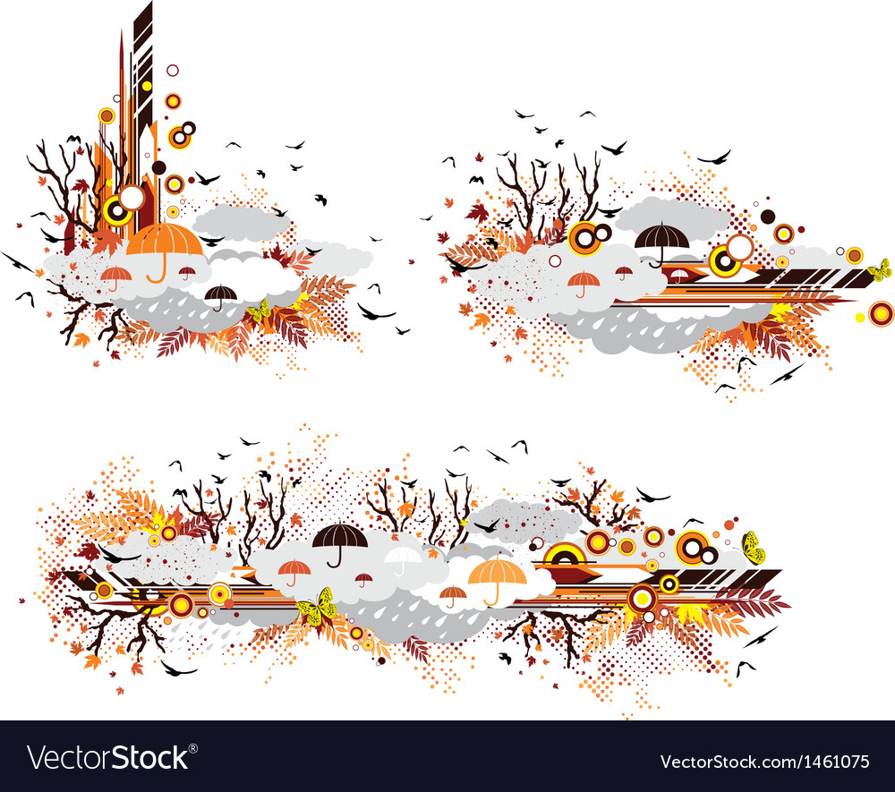Autumn design elements vector | Price: 1 Credit (USD $1)