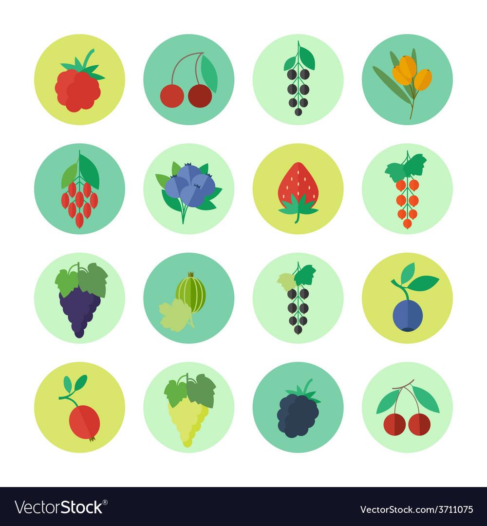 Berries icons set vector | Price: 1 Credit (USD $1)