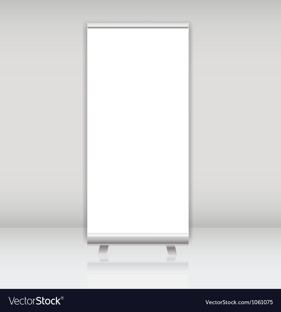 Blank roll up banner display template for vector | Price: 1 Credit (USD $1)