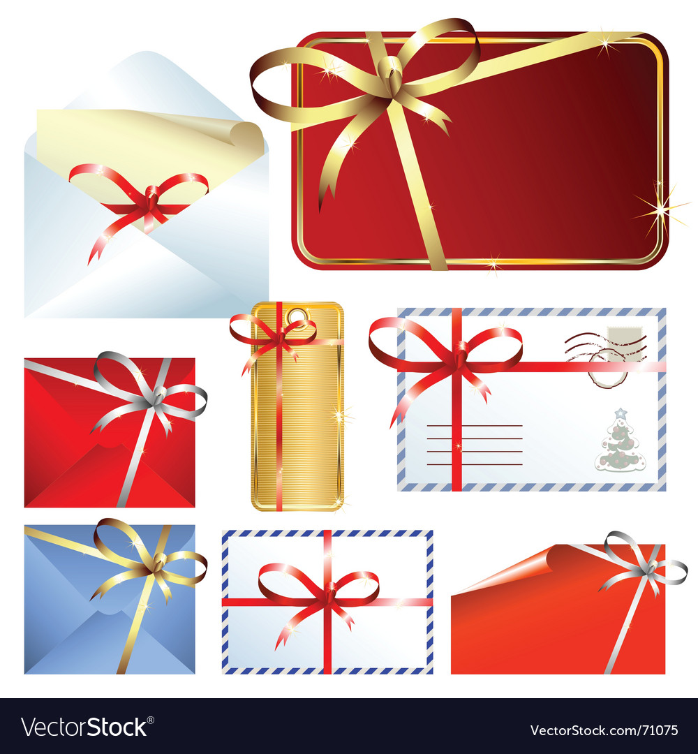 Christmas mail vector | Price: 1 Credit (USD $1)