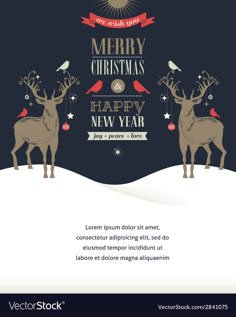 Christmas vintage greeting card retro concept with vector   Price: 1 Credit (USD $1)