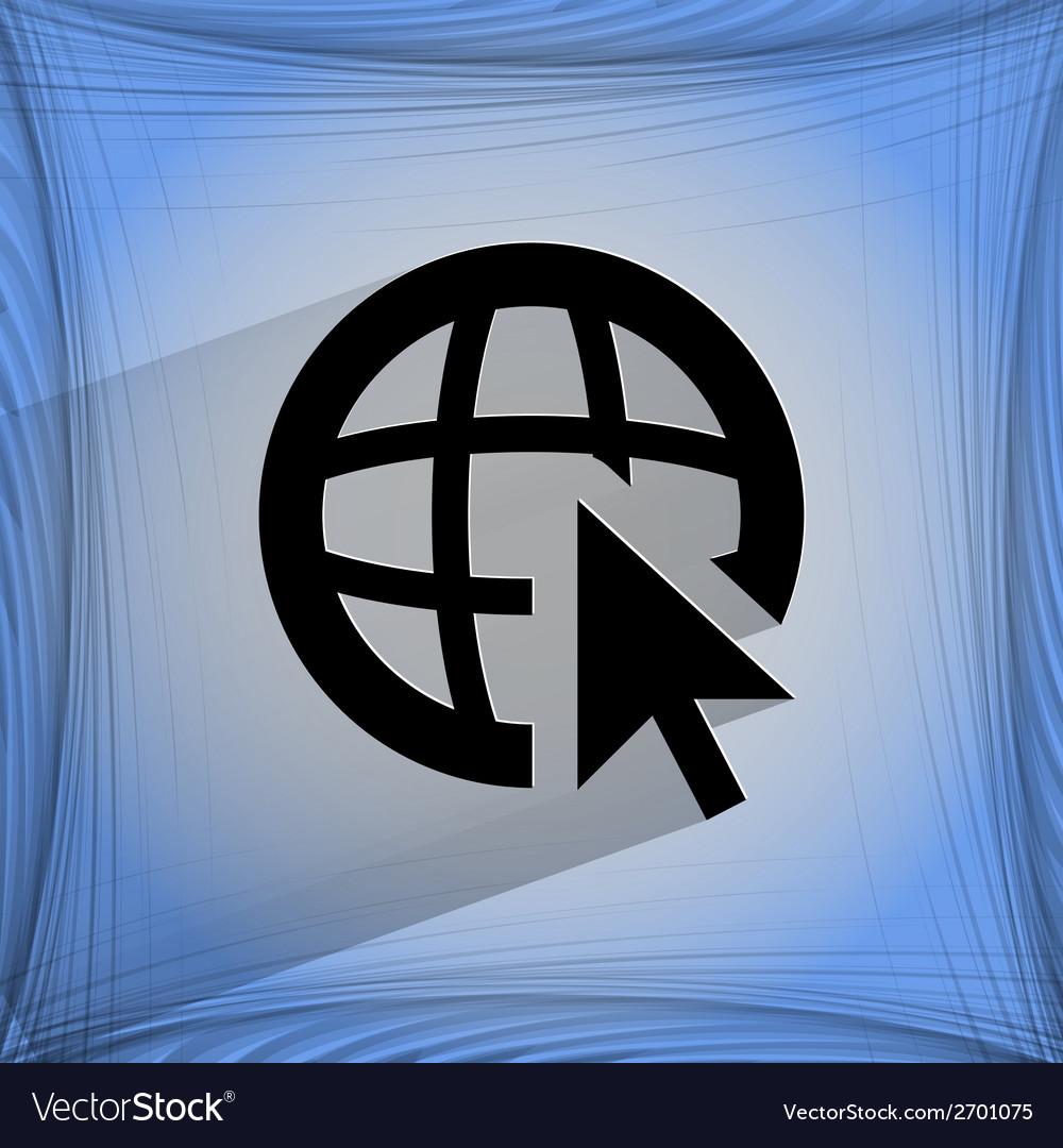 Globe flat modern web design on a flat geometric vector | Price: 1 Credit (USD $1)