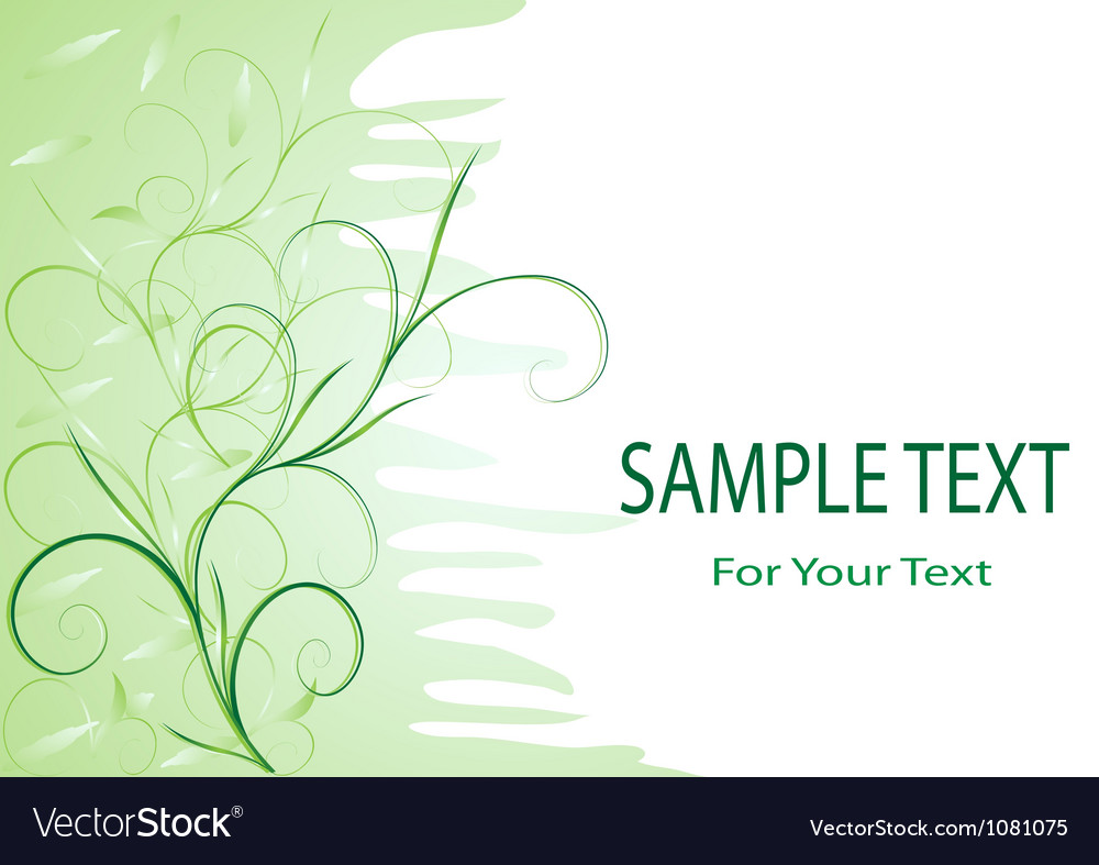 Green tenderness vector | Price: 1 Credit (USD $1)