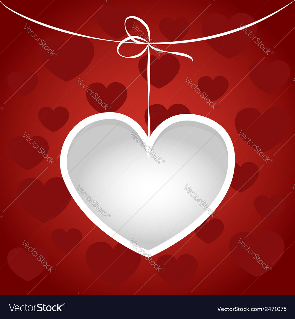 Heart on a string frame vector   Price: 1 Credit (USD $1)