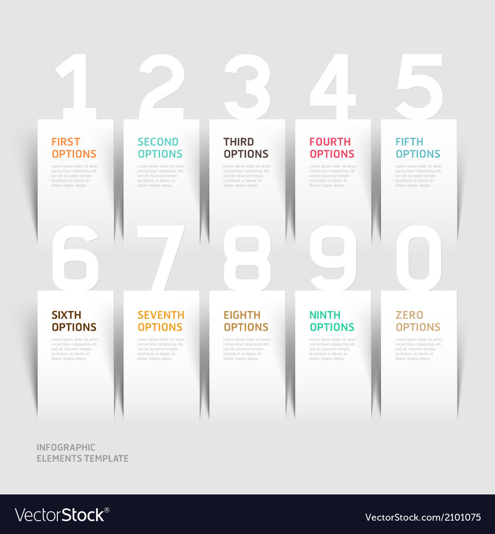 Infographics number options template vector | Price: 1 Credit (USD $1)